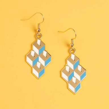Ballot Box Drop Earrings