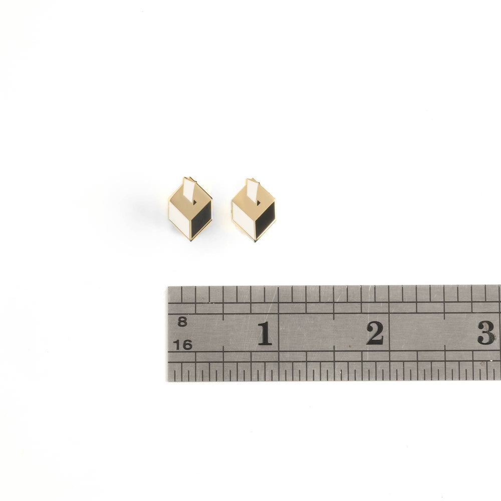 Ballot Box Stud Earrings