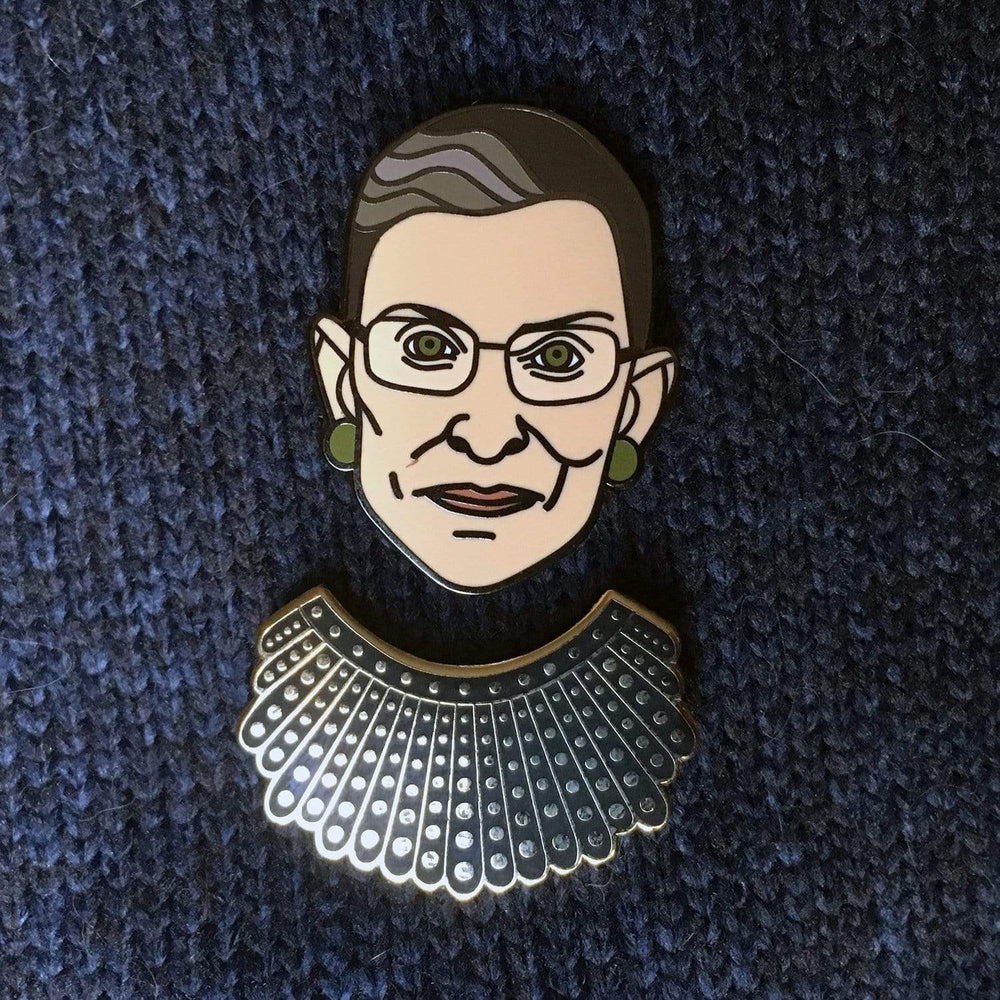 Dissent Collar pin + Ruth Bader Pinsburg (set)