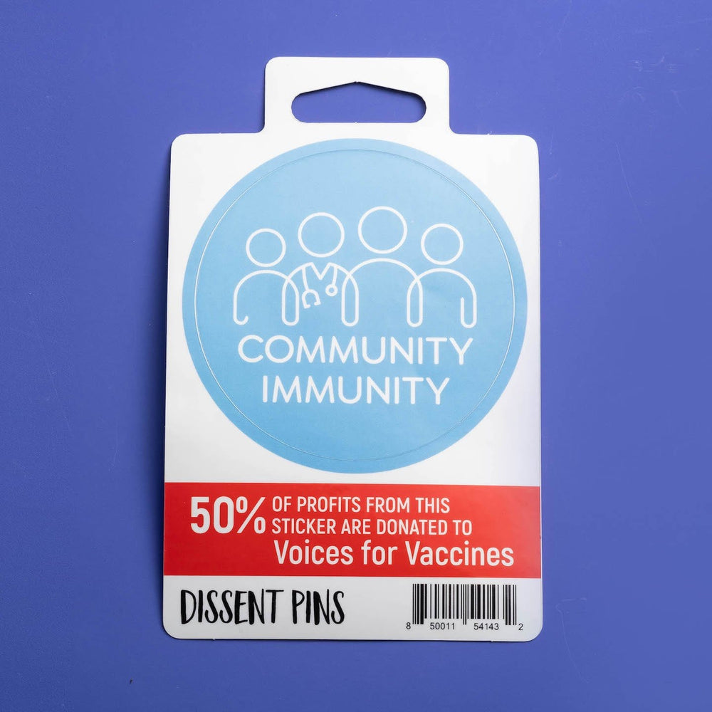 Community Immunity Sticker