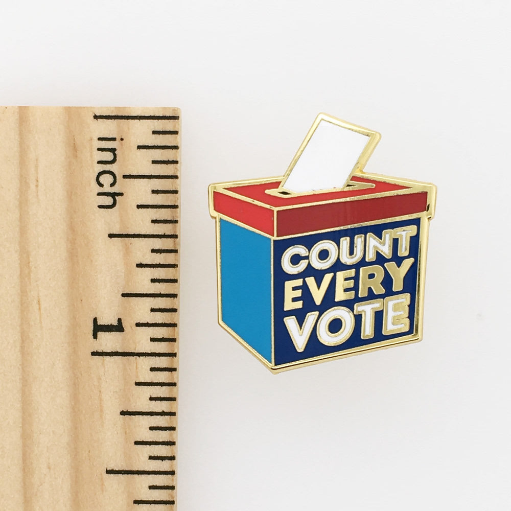 Count Every Vote Mini Pin