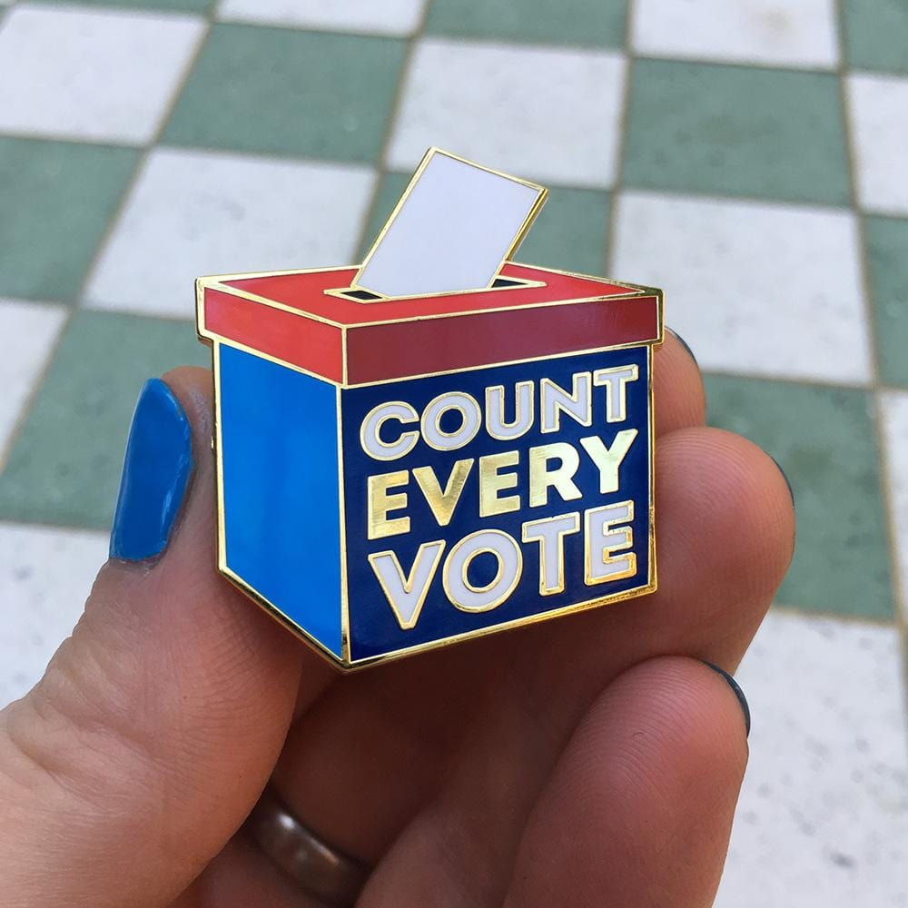 Count Every Vote Pin
