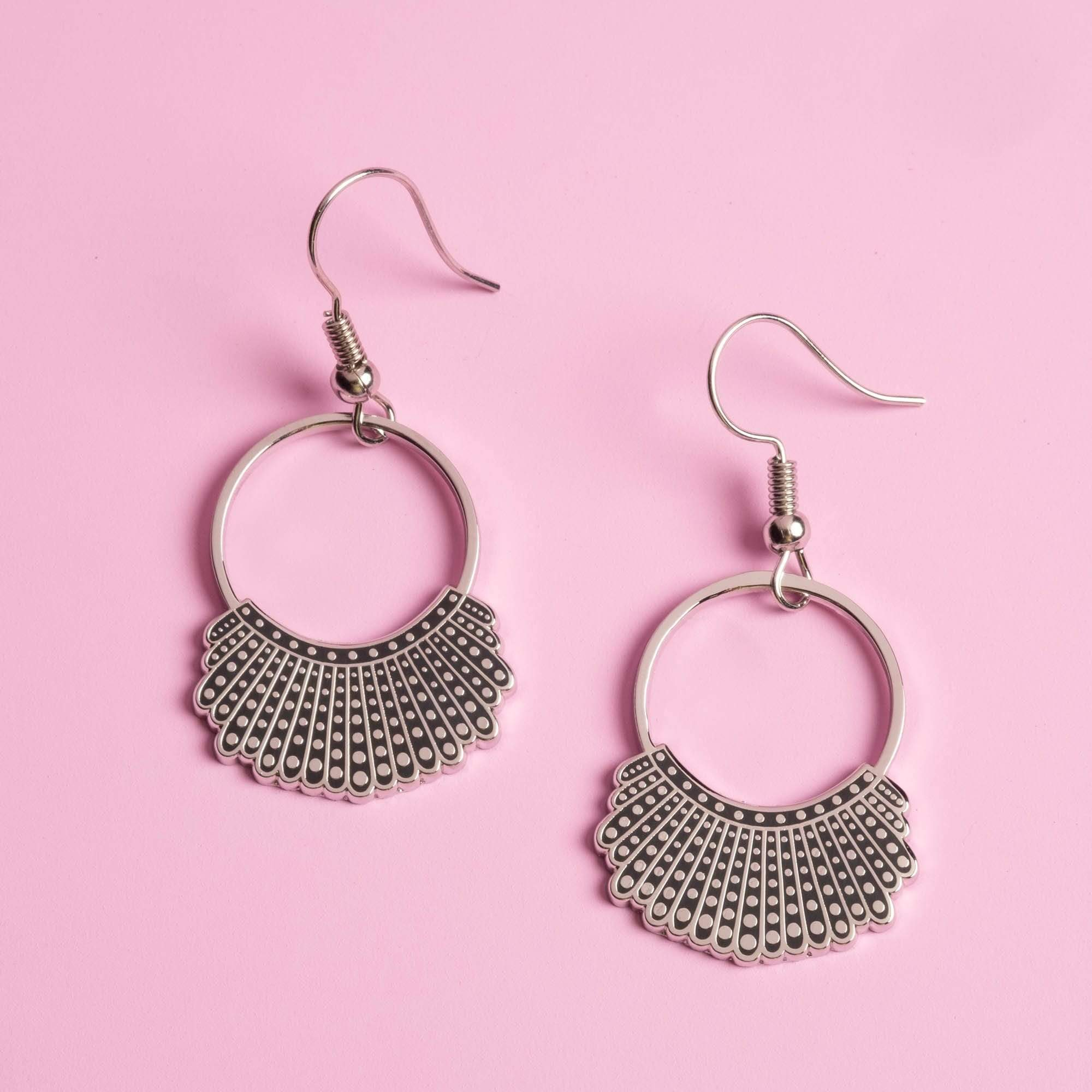Dissent Collar Hook and Hoop Earrings
