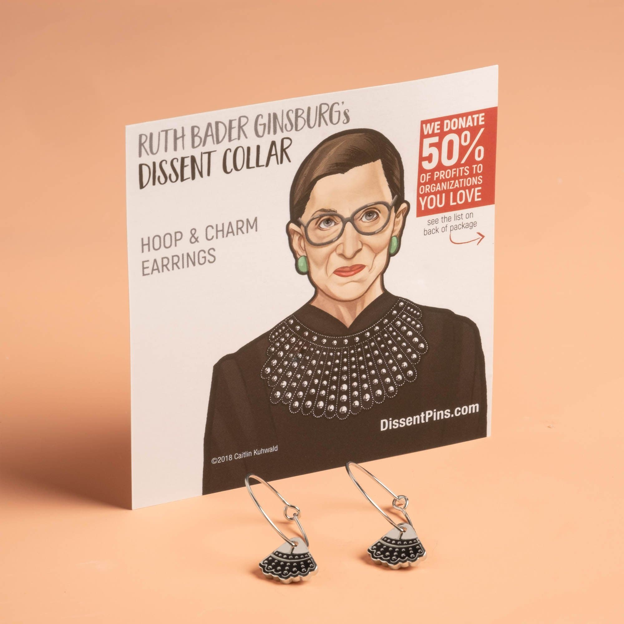 Dissent Collar Hoop and Charm Earrings