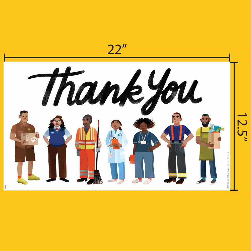 Essential Workers Thank You Poster #1