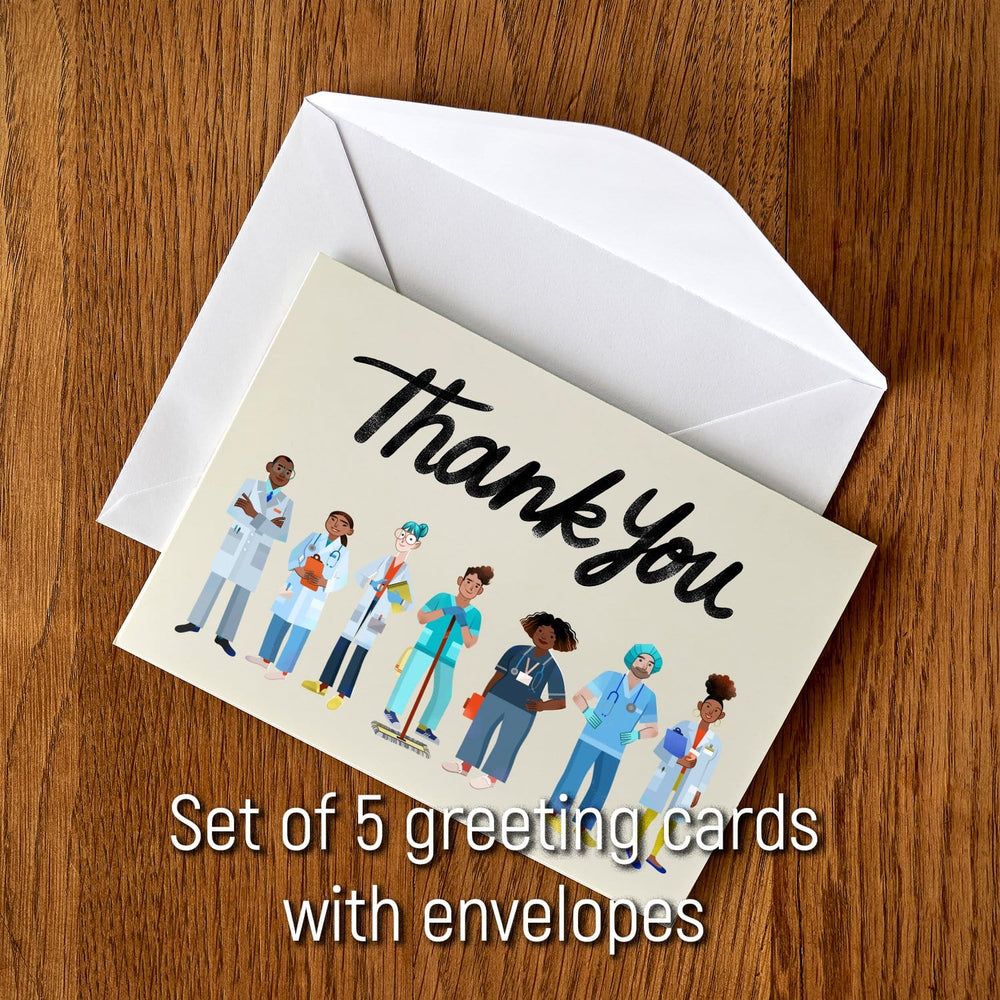 Essential Workers Thank You Cards: Healthcare (package of 5)