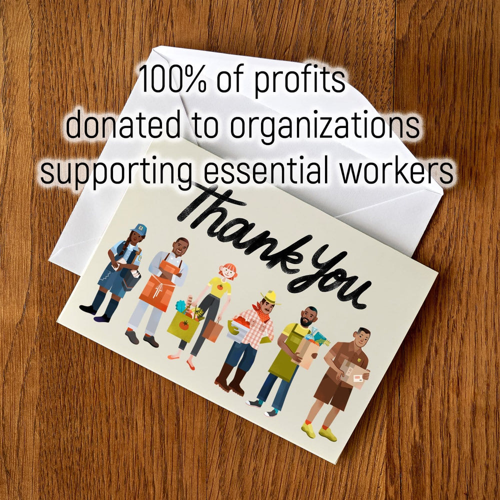 Essential Workers Thank You Cards: Food and Delivery Workers (package of 5)