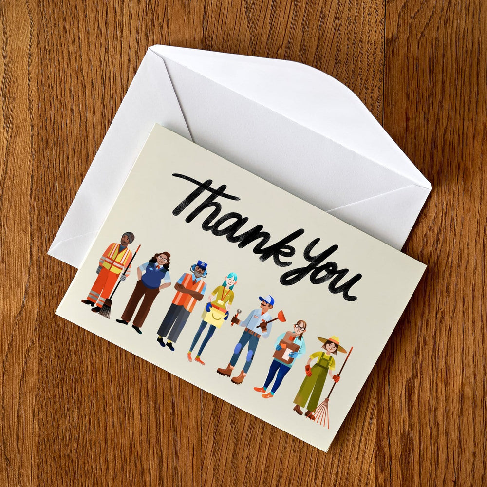 Essential Worker Thank You Cards - Transportation, Sanitation, Maintenance and Warehouse