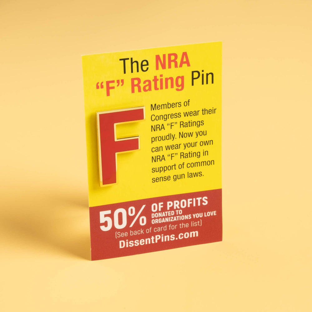 NRA F-Rating Pin