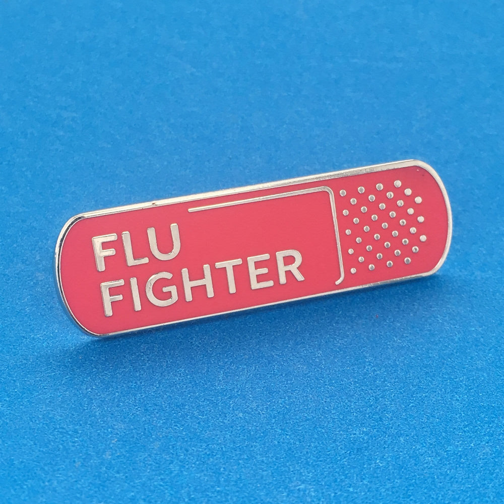 Flu Fighter Pin