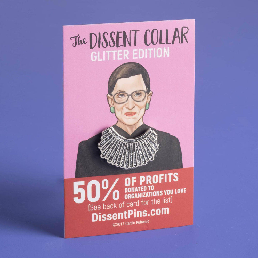 Dissent Collar Pin - Glitter Edition