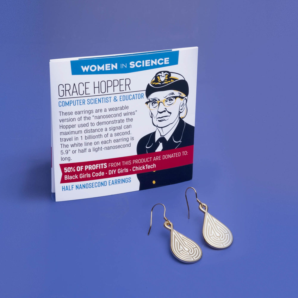 Grace Hopper / Half-Nanosecond Earrings