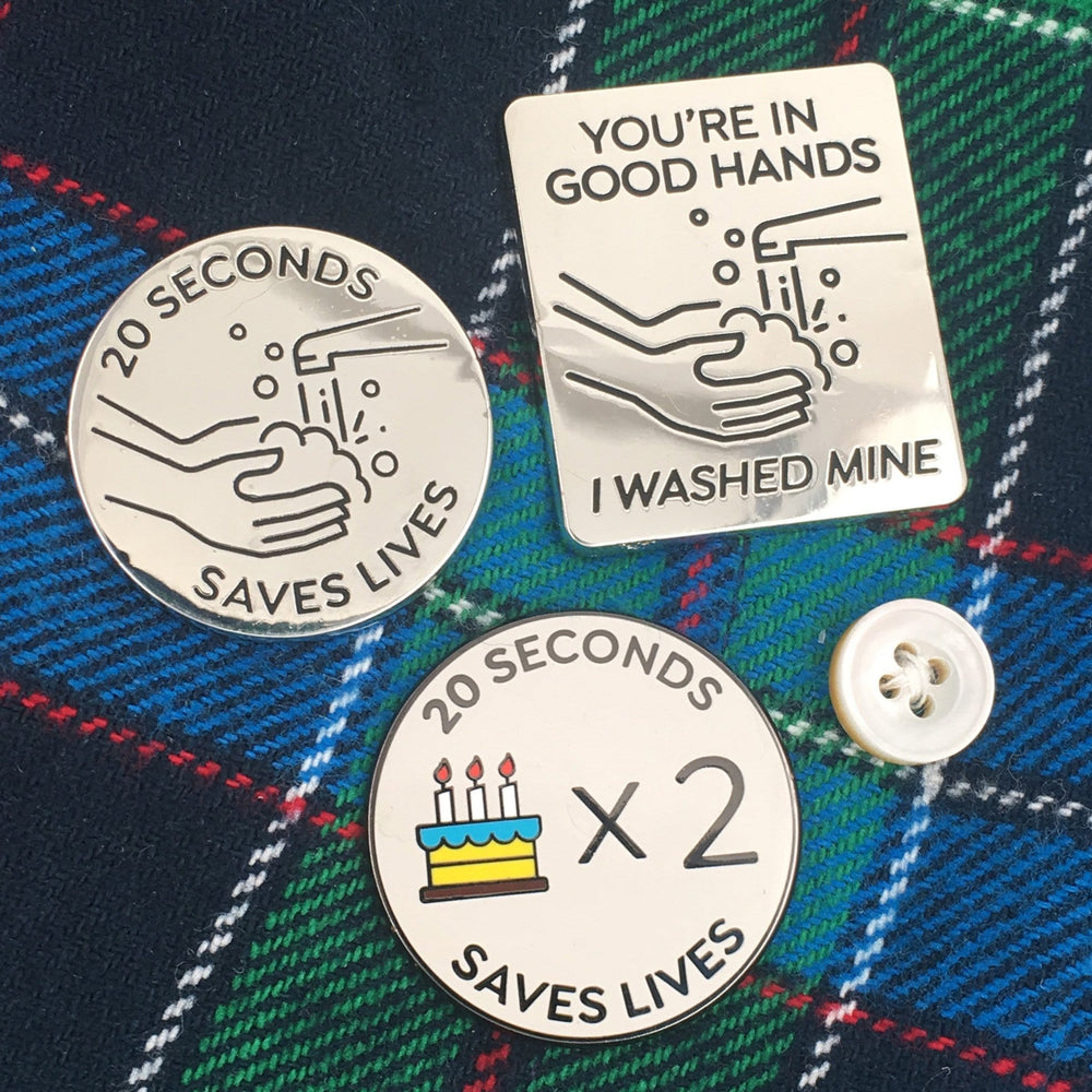 Handwashing Pin Set - get all three designs!
