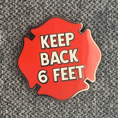 Keep Back 6 Feet Social Distancing Pin