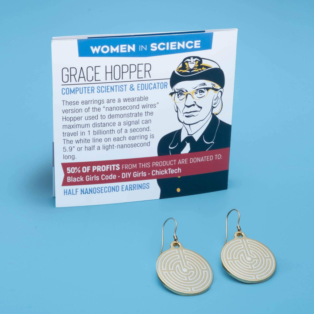 Grace Hopper / Nanosecond Earrings