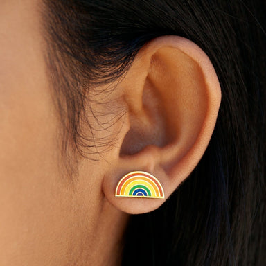 Pride Rainbow Earrings - Post