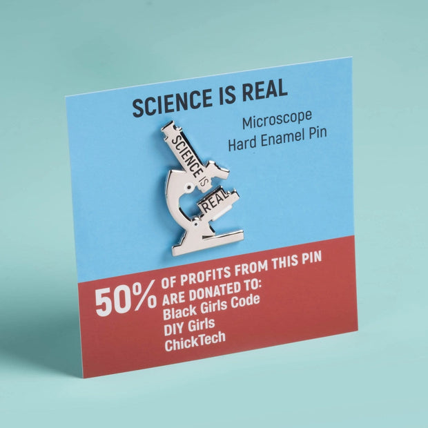 Science is Real - Microscope Pin 1