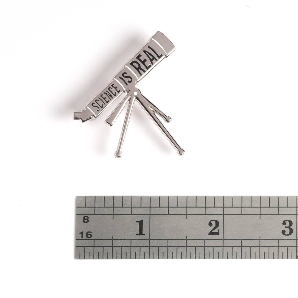 Science is Real - Telescope Pin