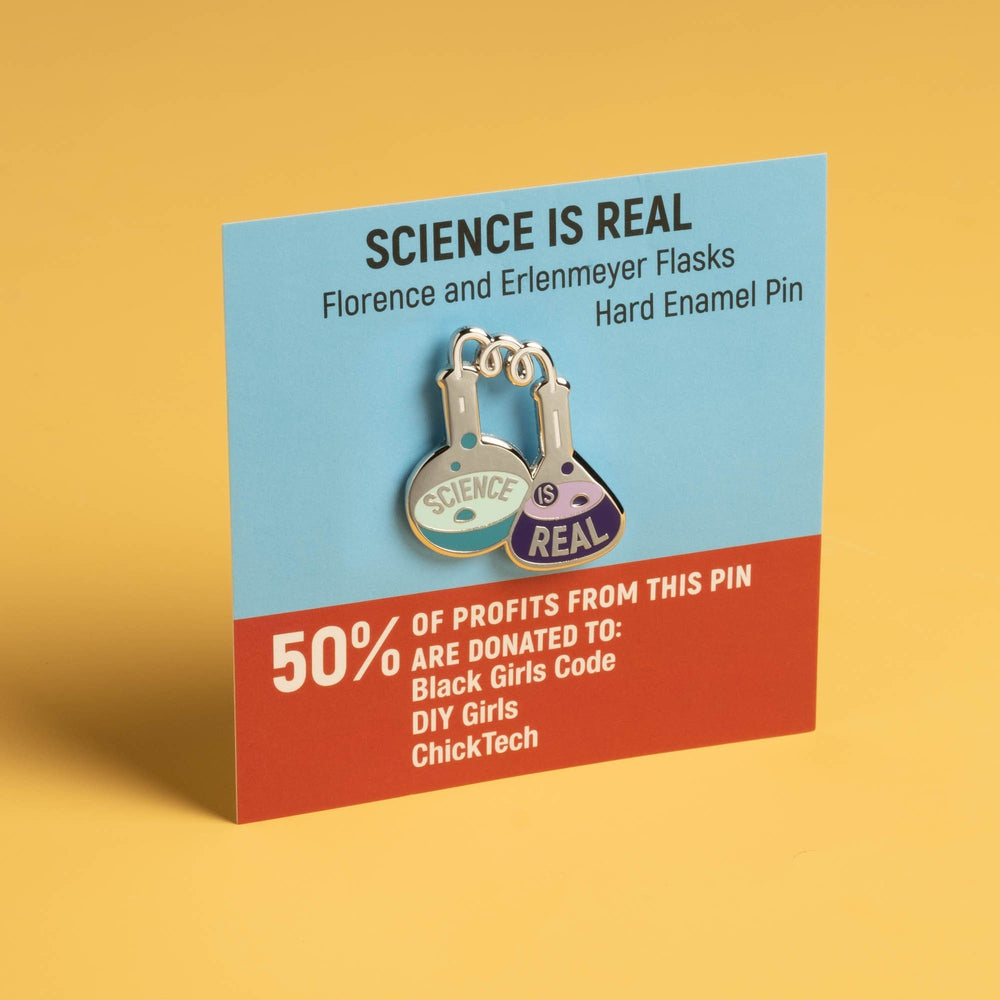 Science is Real - Flasks Pin