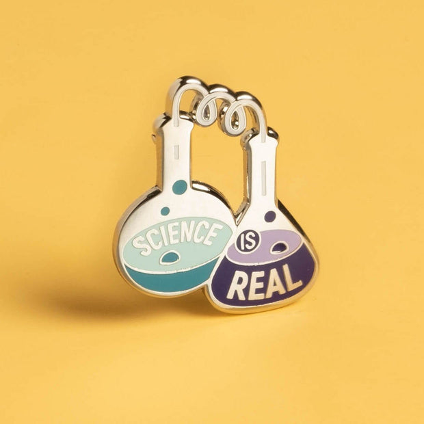 Science is Real - Flasks Pin 1