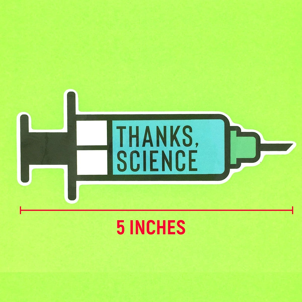 Thanks, Science Vaccine Syringe Sticker
