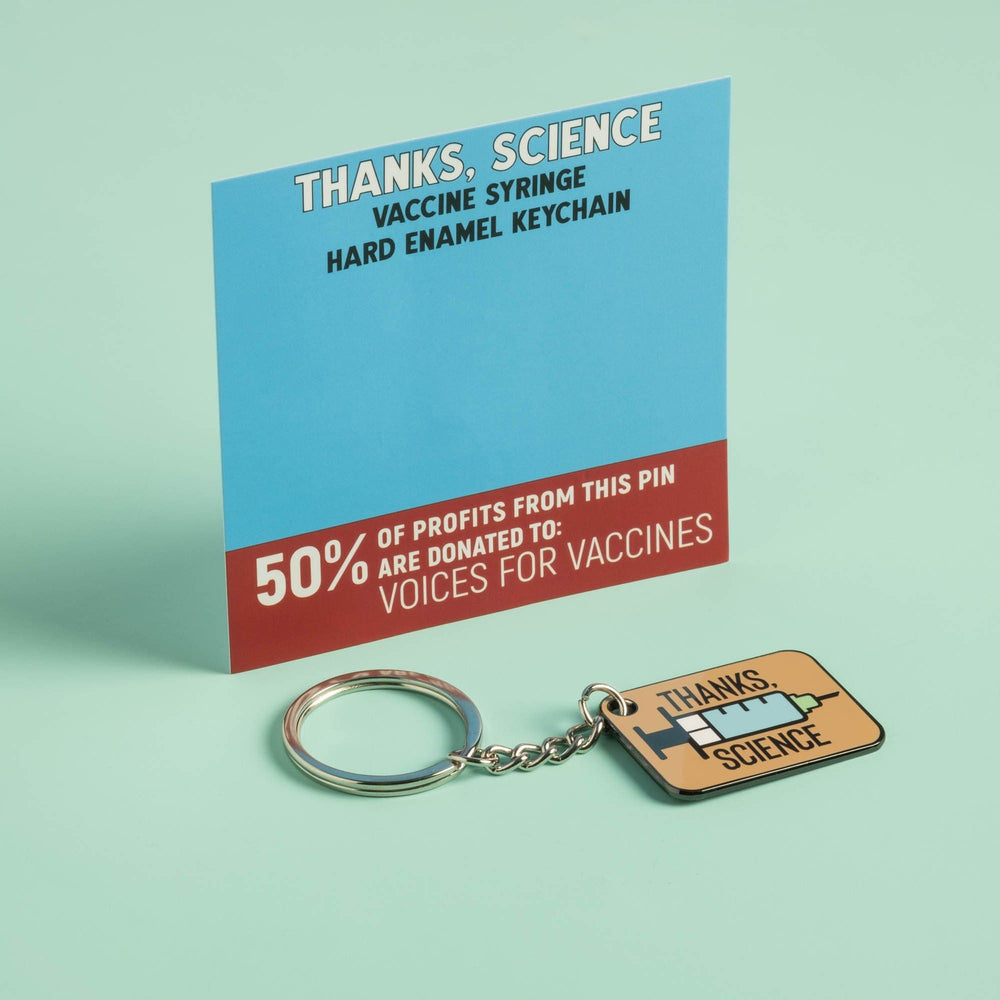 Thanks, Science Keychain - Hard Enamel