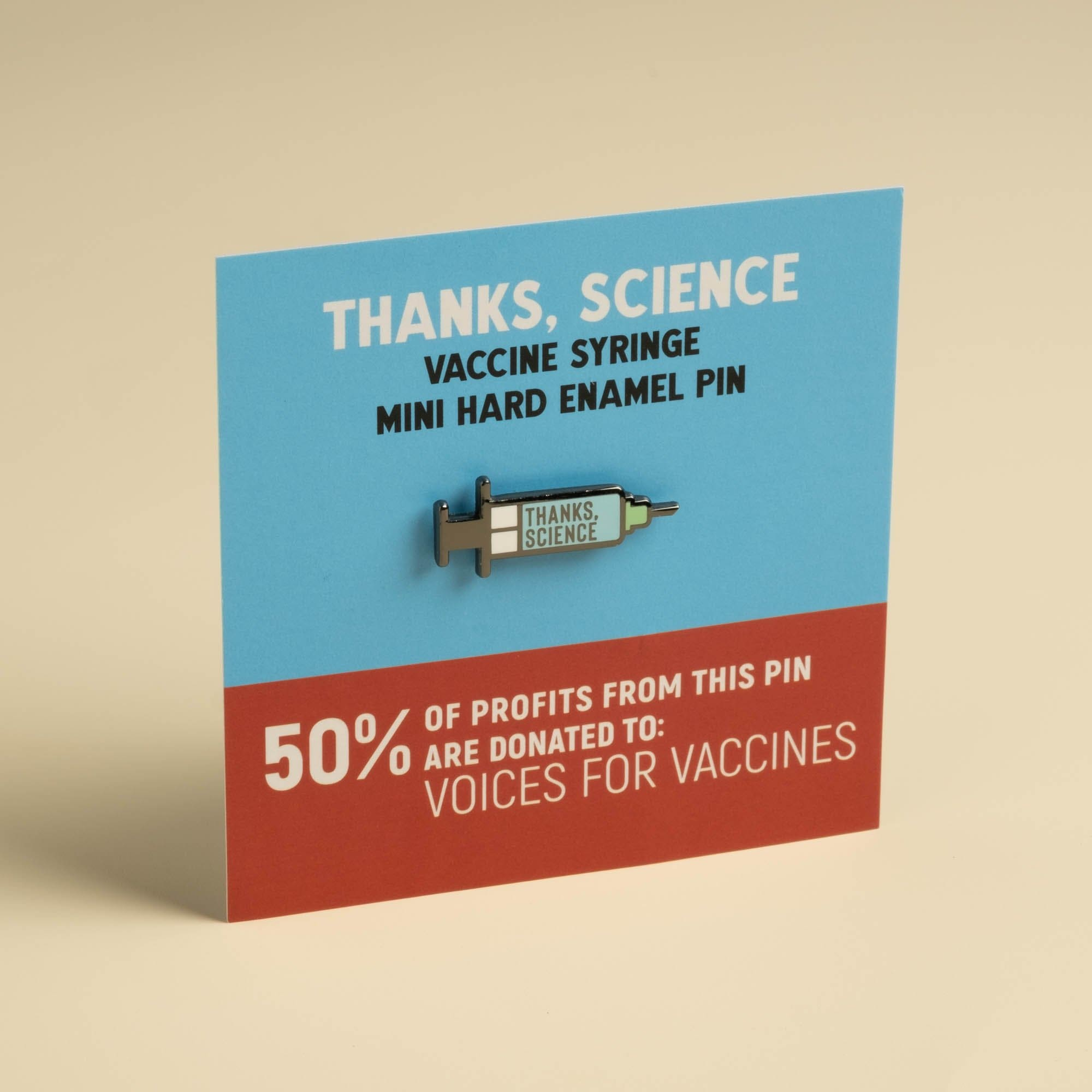 Thanks, Science - Vaccine Syringe Mini Pin