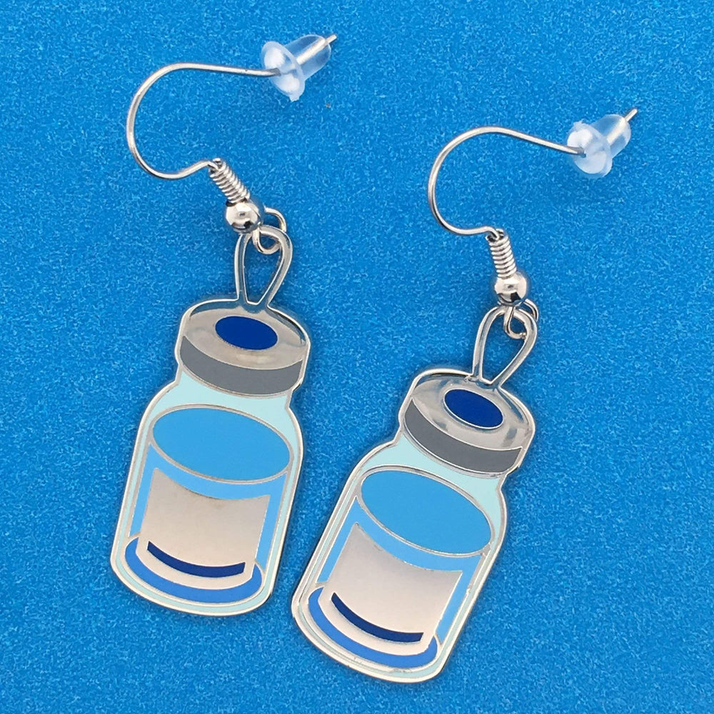 Vaccine Vial Drop Earrings