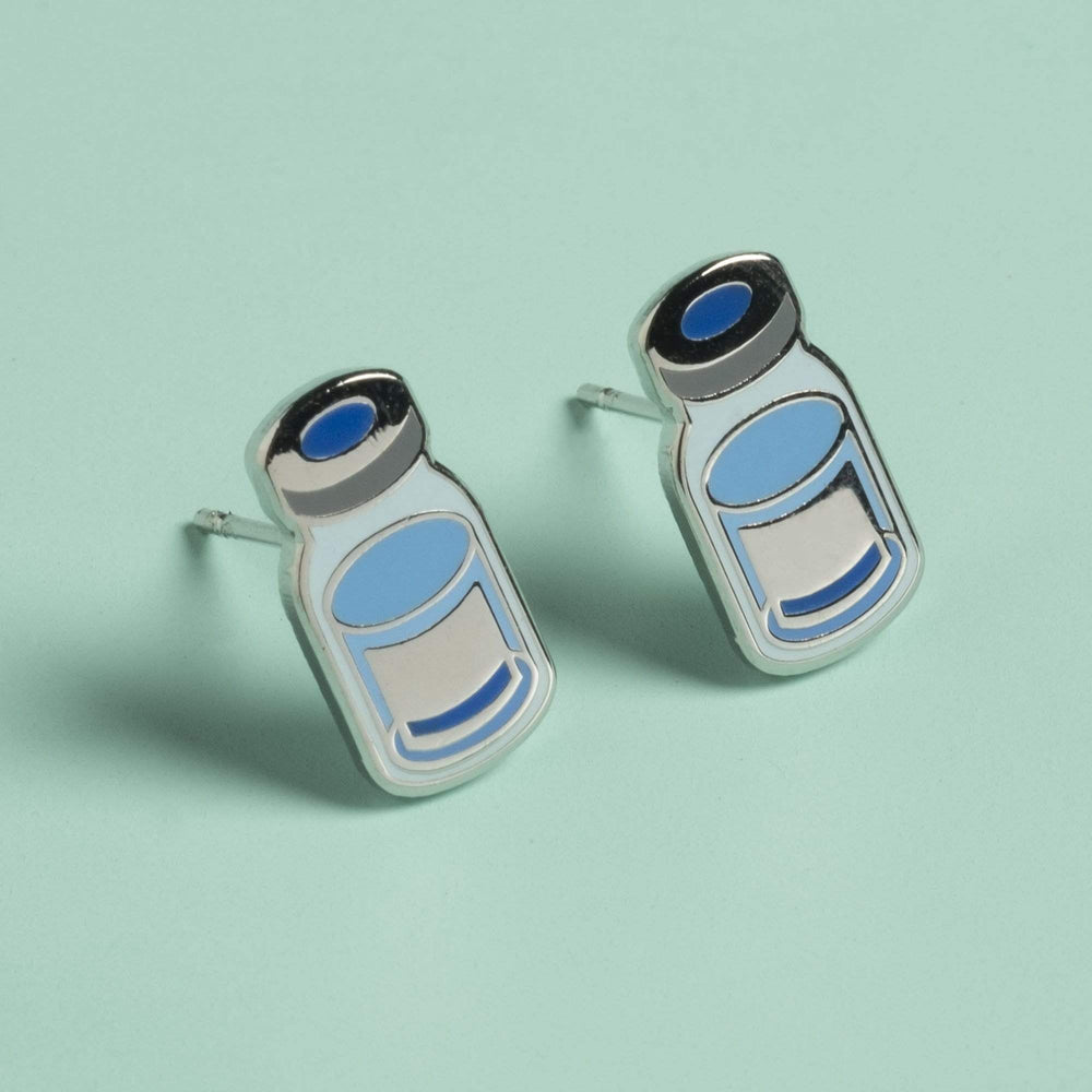 Vaccine Vial Post Earrings