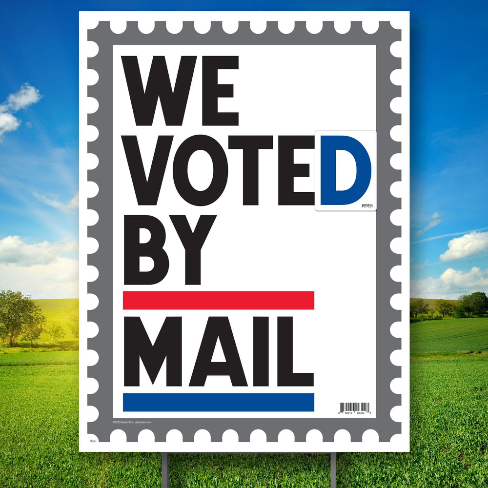 We Voted by Mail Yard Sign