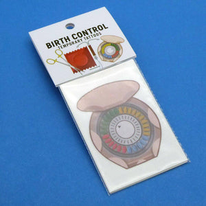 Birth Control Temporary Tattoos