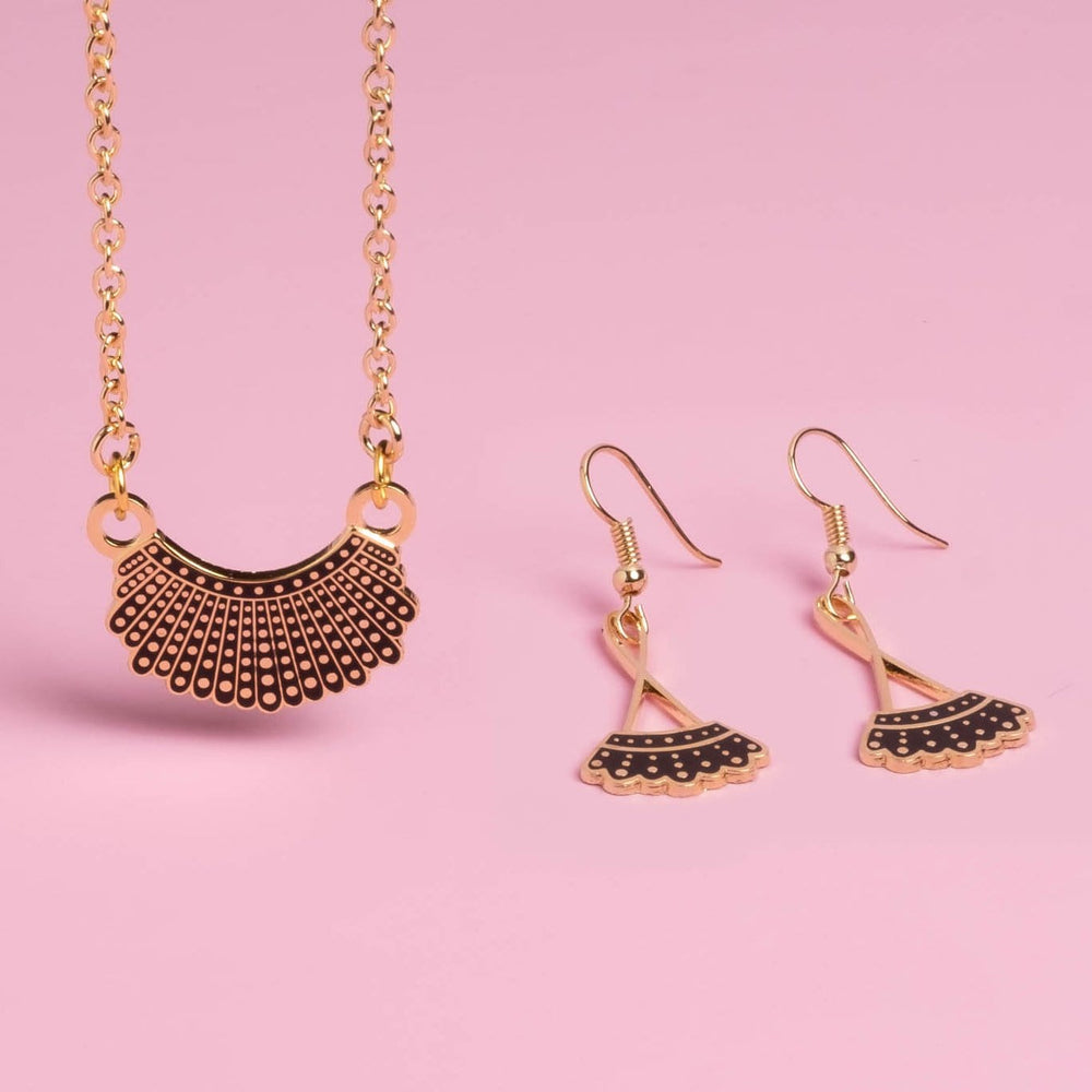 Dissent Collar Drop Earrings + Necklace (set)