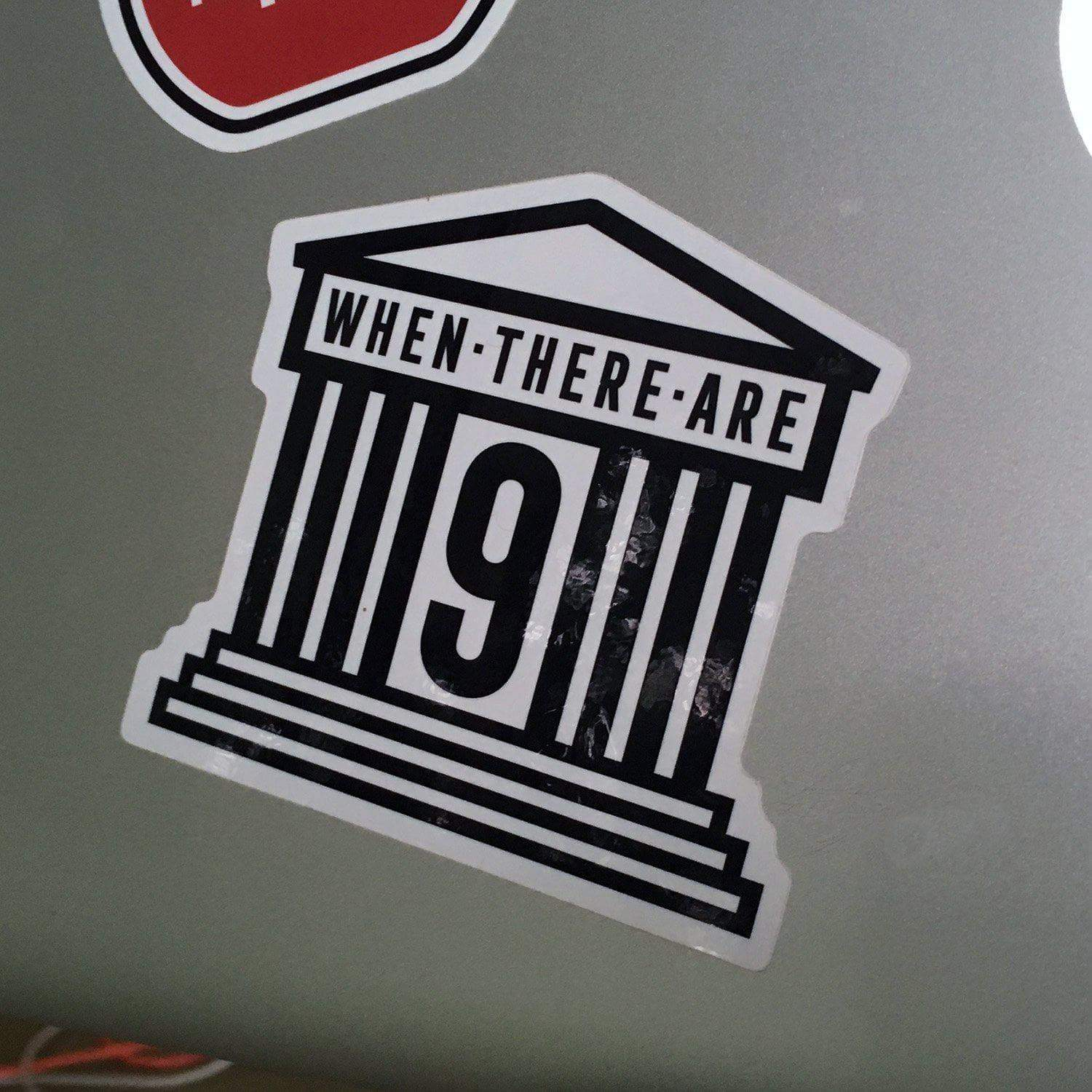 RBG Stickers When There are Nine Sticker