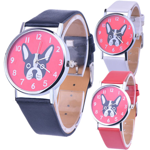 Quartz Dog Watch (Red, Black or White)
