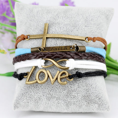 Leather Faith Bracelet - 4 styles