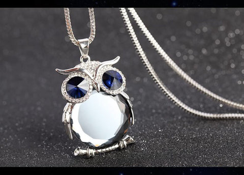 Classic Crystal Owl Pendant