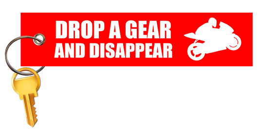 Drop a Gear and Disappear Red KeyTag