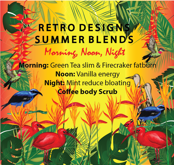 Summer Blends Morning, Noon and Night Retro designs and blends...