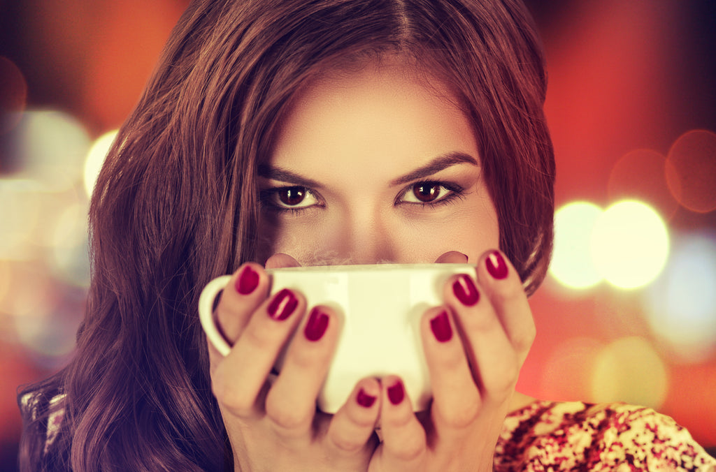 Drinking tea helps to balance hormones