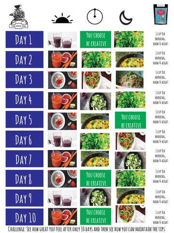 10 Day TBT Healthy diet plan