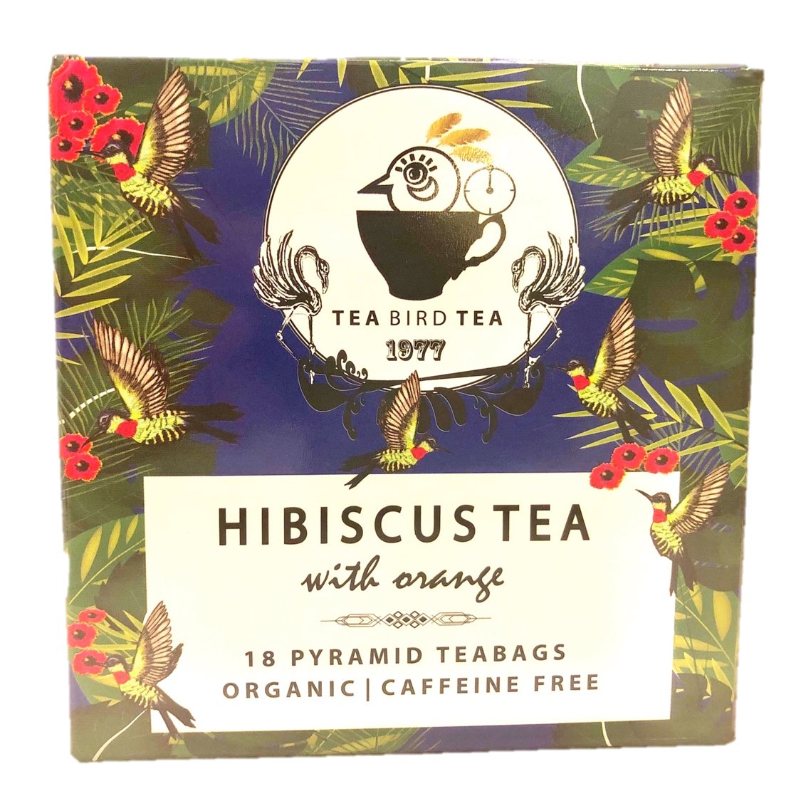 Tea Bird Tea Organic Hibiscus Tea Case 12 Tins