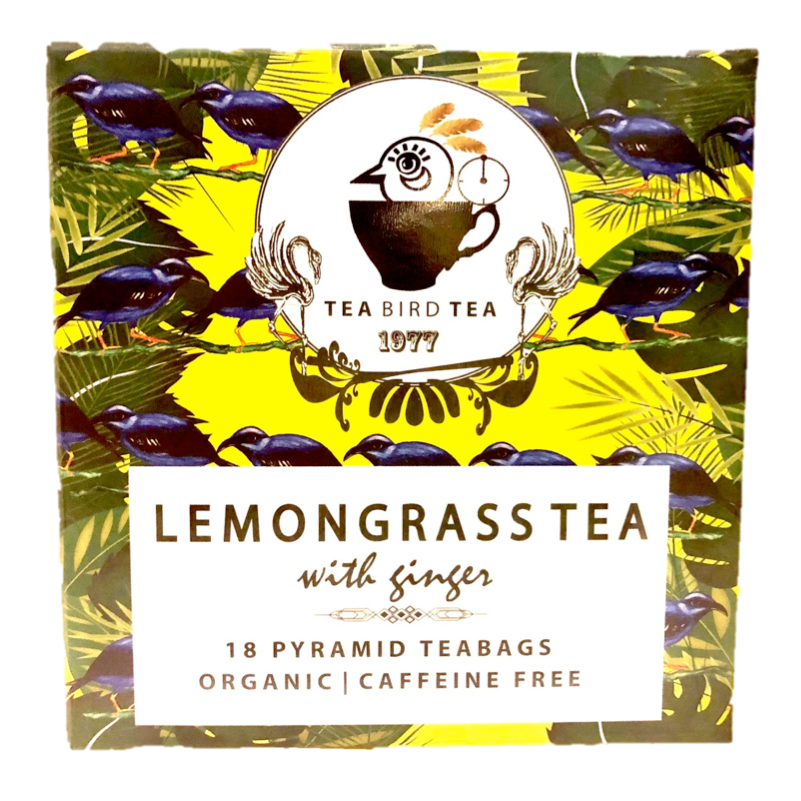 Lemon Grass & Ginger Organic Tea Bird Tea Cases 12 Tins