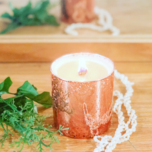 Rose Gold with Wood Wick Candles