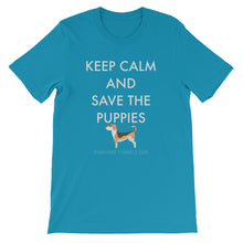 Short-Sleeve Unisex T-Shirt - Save The Puppies White
