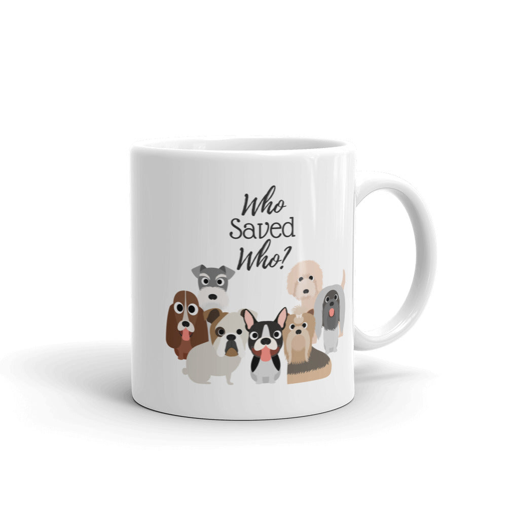 Who Saved Who Puppy (a) Mug