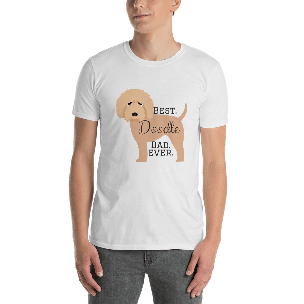 Best.Doodle.Dad.Ever. Apricot W - Short-Sleeve Unisex T-Shirt
