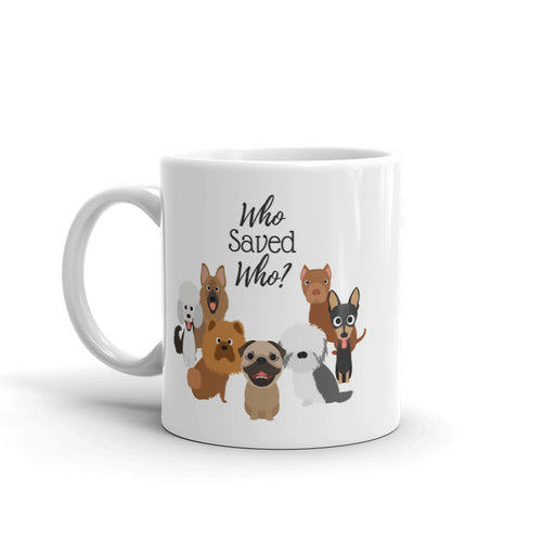 Who Saved Who Puppy (b) Mug