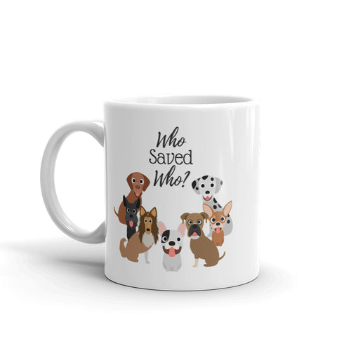 Who Saved Who Puppy (c) Mug