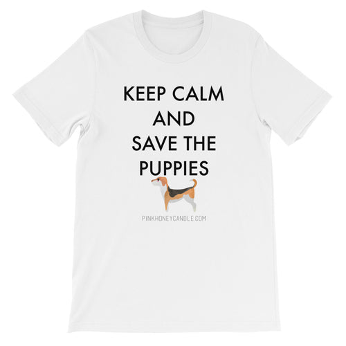 Short-Sleeve Unisex T-Shirt - Save The Puppies Black