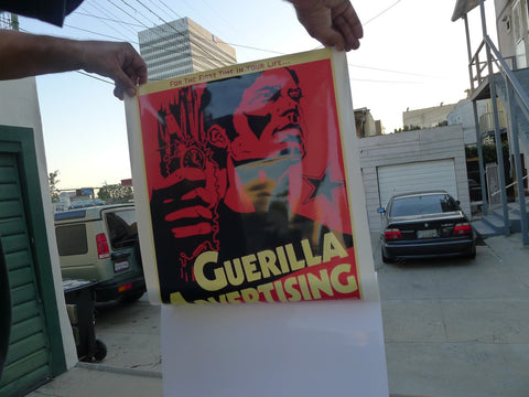 Guerilla Advertising Window Cling